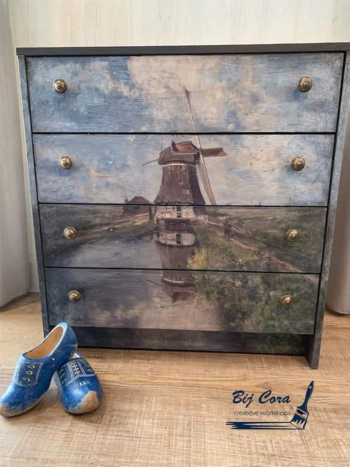 Windmill Decoupage Paper