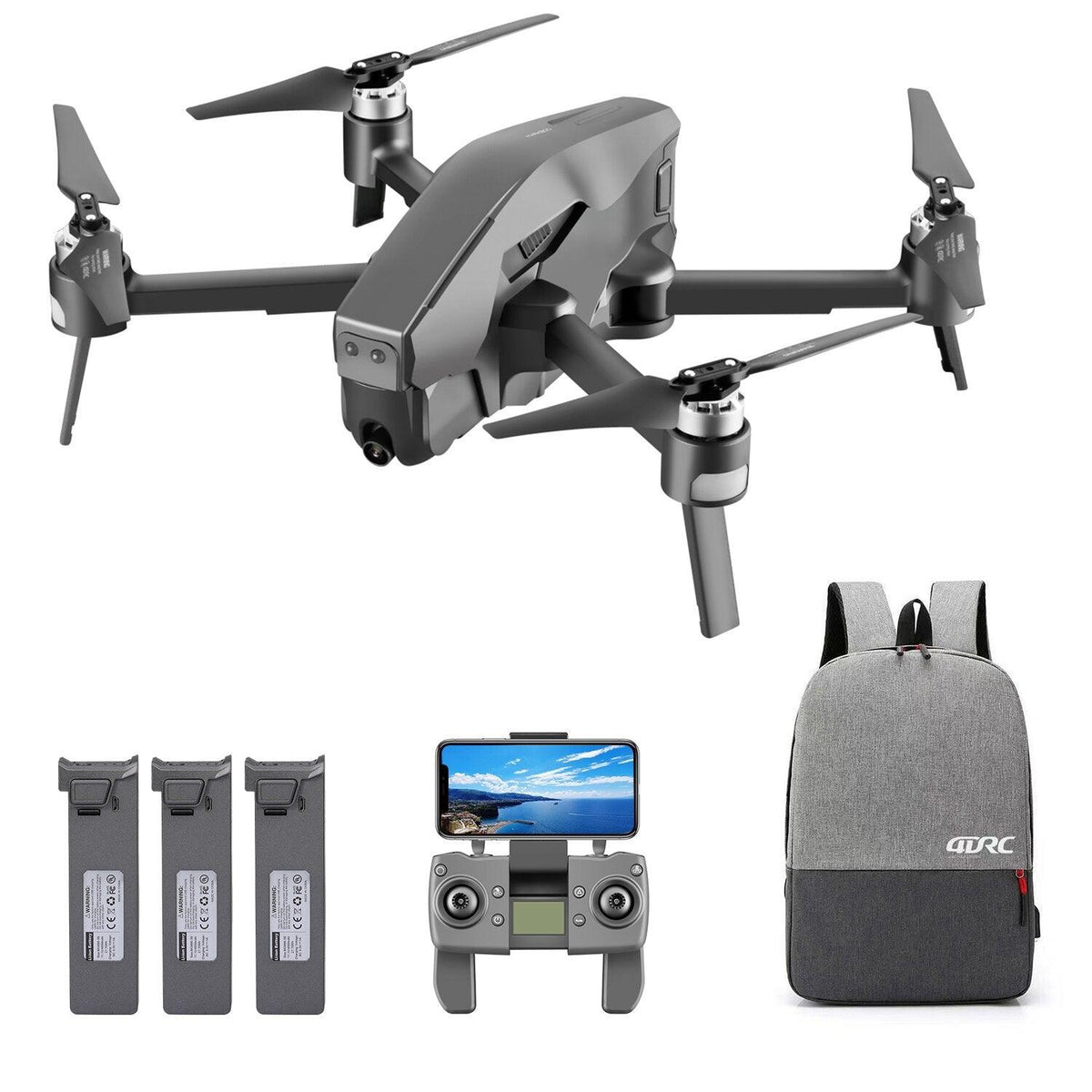 Drone com camera 4k 1.6km 8MP HD Wifi GPS Mark3001 Profissional Barato