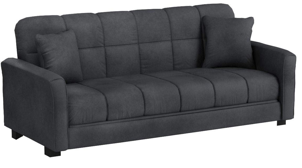 Baja Convert-a-couch Sofa Sleeper Bed Sofa Converts Into a Full-size Bed and Seats 3 Comfortably (Charcoal Gray)