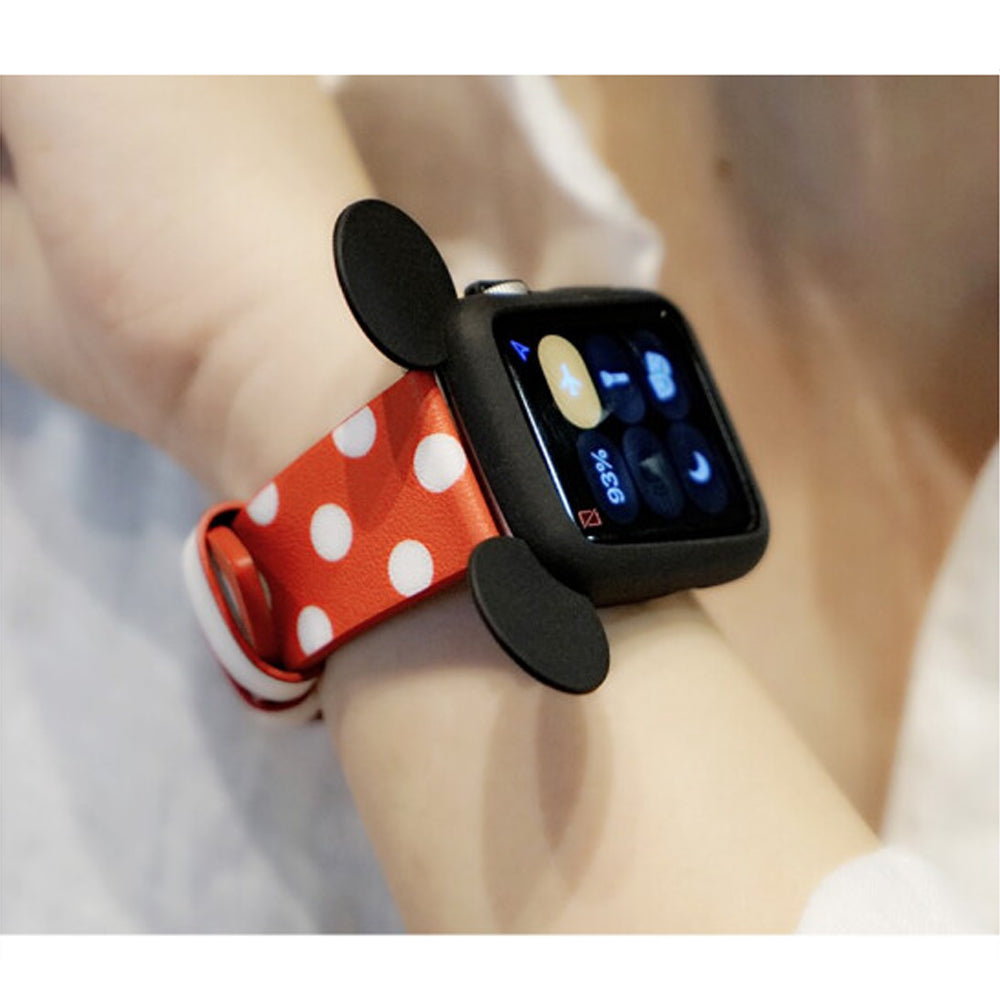 Mickey Mouse Ears Silicone Cover Case for Apple Watch Series 4 3 2 1 - 38mm 40mm 42mm 44mm