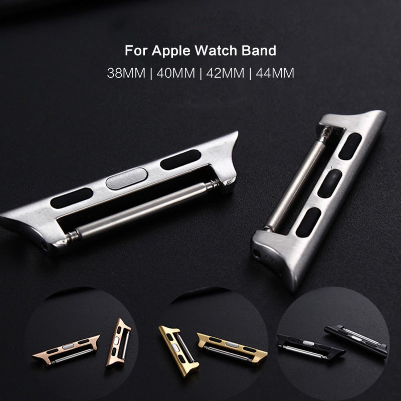 (10 Pieces/ 5 Pair) Stainless Steel Replacement Adapter/Connector for Apple Watch Band 38mm 40mm 42mm 44mm
