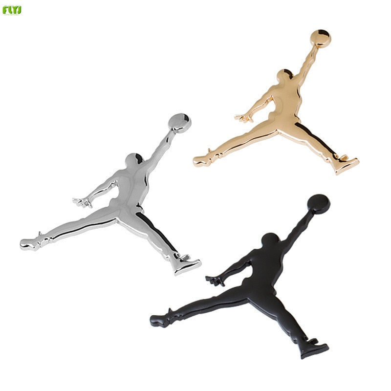 NBA Metal 3D Jordan Jumpman Car Sticker Decor Metal emblem Car badge Logo Motorcycle Emblem Car Styling Accessories