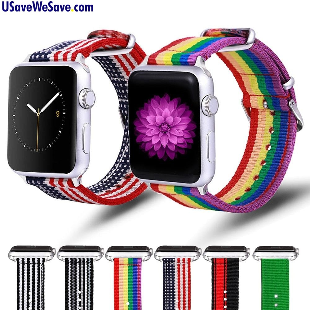 Fashionable Nylon Strap Bands for Apple Watch Series 4 3 2 1