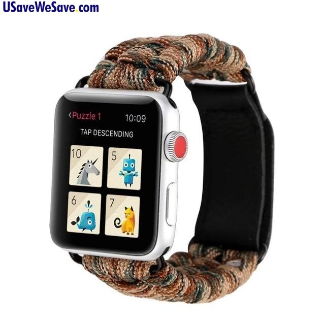 Outdoor Sports Parachute Cord Material - Apple Watch Band Strap for Series 4/3/2/1 - Camping / Hiking