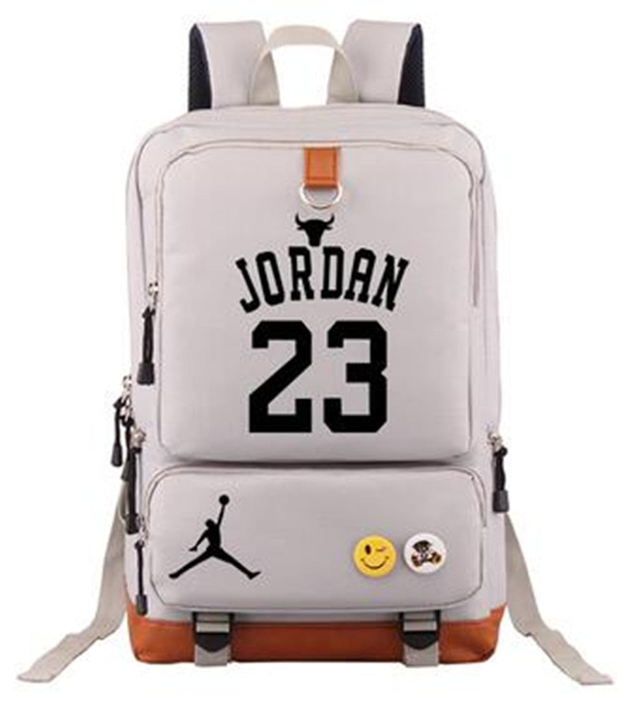 NBA Basketball Star Player Backpack - Jordan Curry Duncan McGrady Durant - Glow in Dark