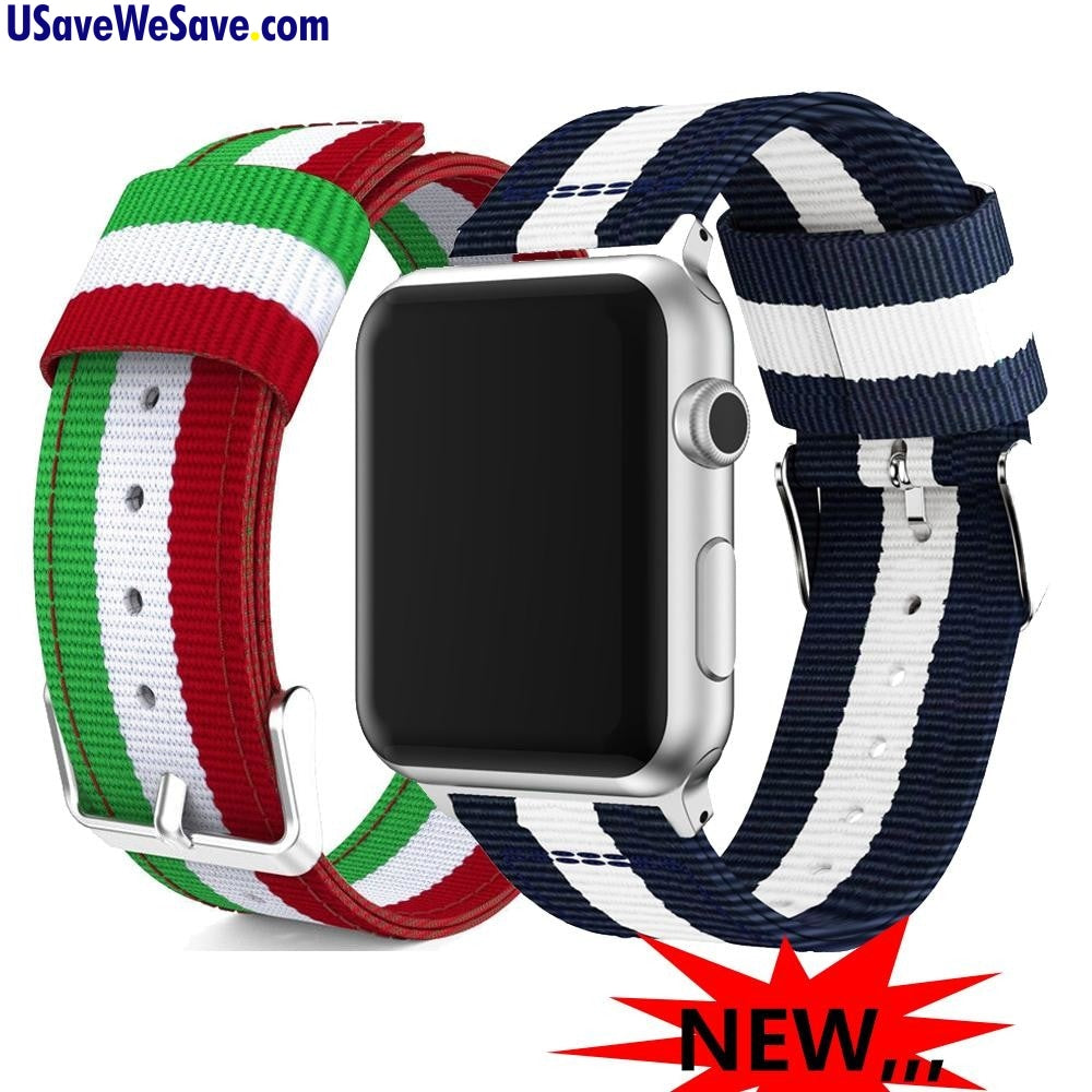 Nato Nylon Strap Band For Apple Watch Series 4 3 - 38mm/42mm