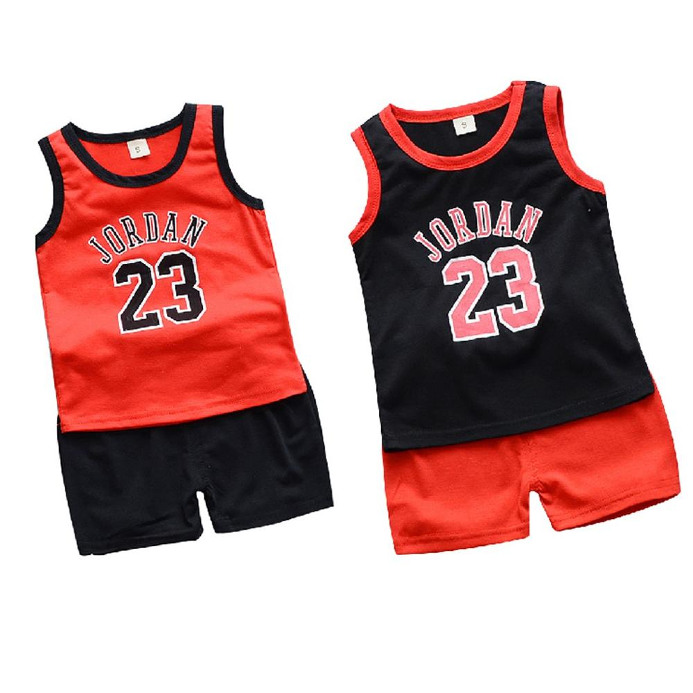 2pcs Set Toddler Child's Basketball Uniform Baby Kids Outfit - Jordan