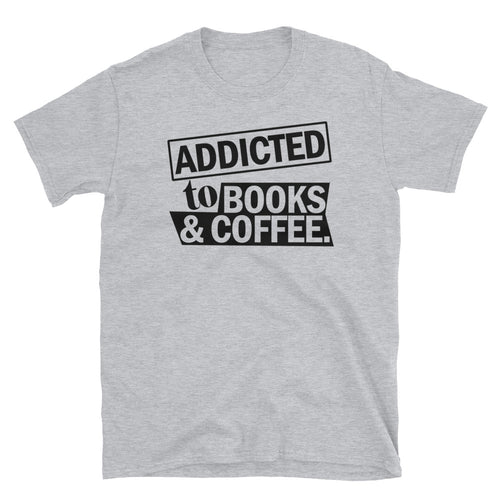 Addicted to Books and Coffee Short-Sleeve Unisex T-Shirt