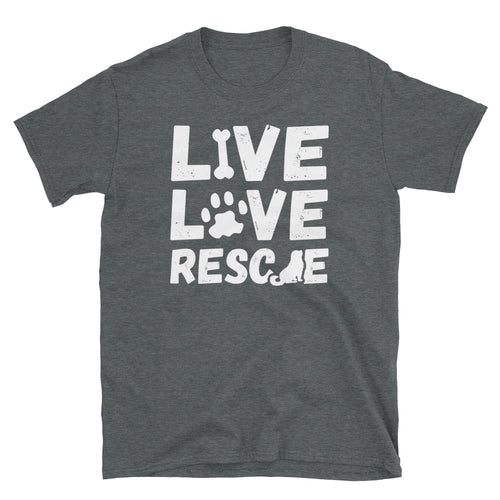 Live Love Rescue Witty Dog Unisex T-Shirt