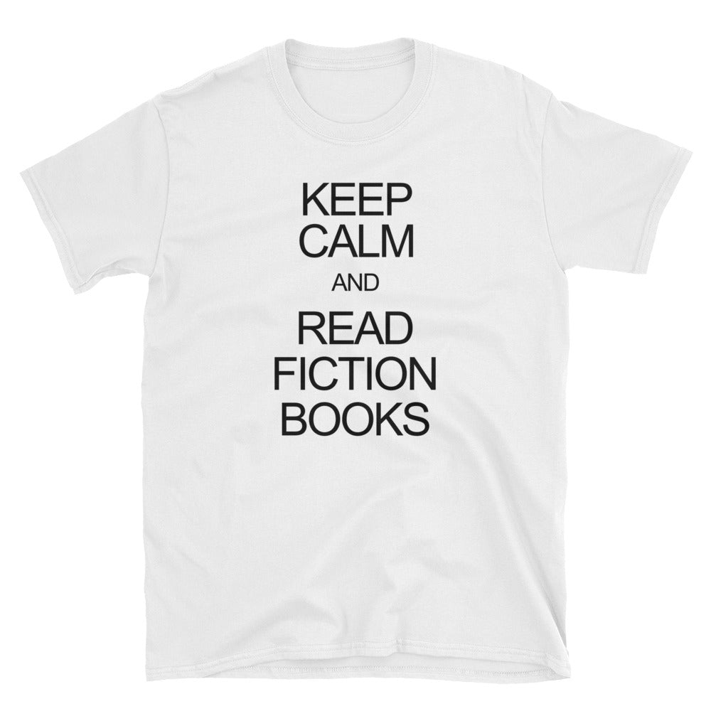 Keep Calm and Read Fiction Books Short-Sleeve Unisex T-Shirt