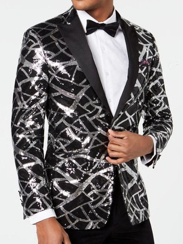 Slim Print One Button leisure Suit