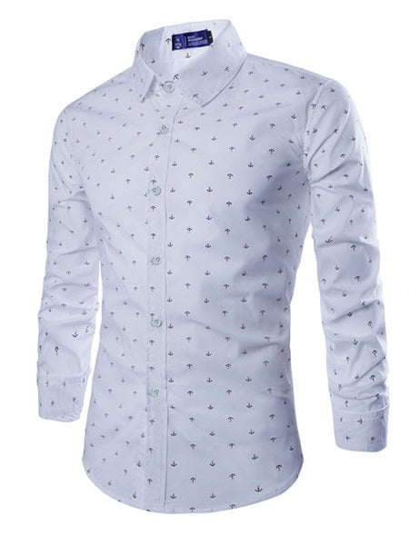 Lapel Architecture England Single-Breasted Slim Shirt