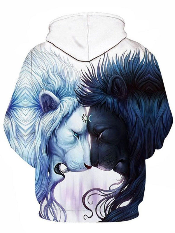 Pullover 3D Animal Fashion Loose Hoodies