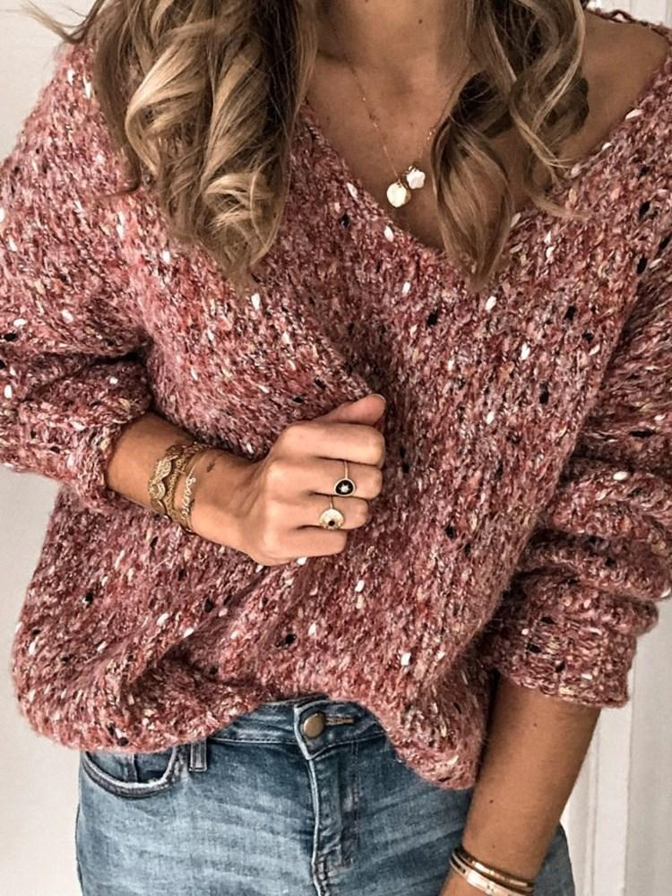 Thick Regular Loose Long Sleeve Sweater