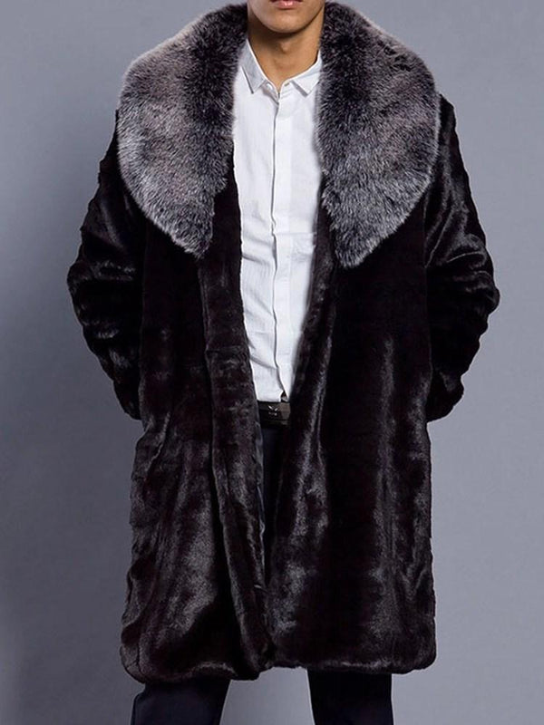 Plain Mid-Length A Line Winter Coat