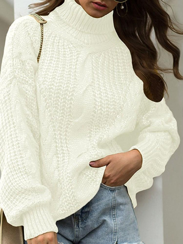 Thick Regular Long Sleeve Turtleneck Sweater