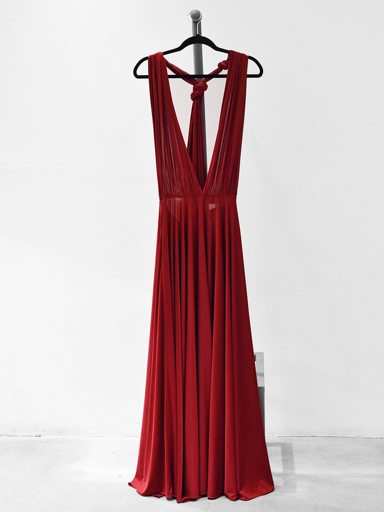 MULTIWAY MAXI DRESS - BURGUNDY