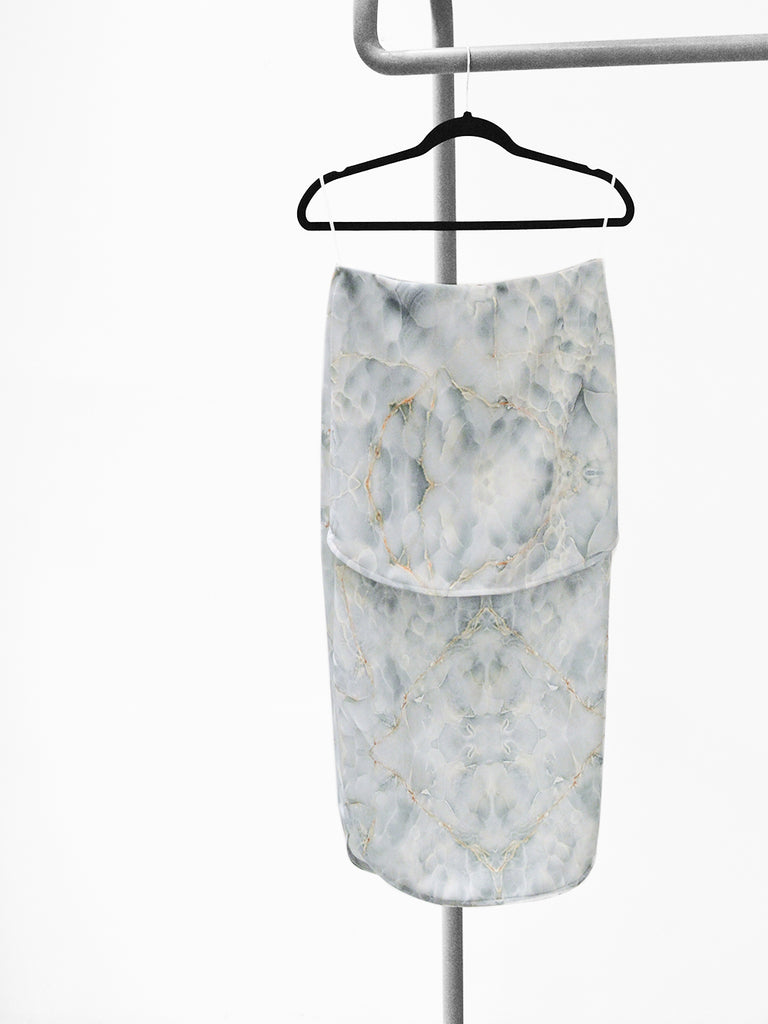 DOBLE LAYER SKIRT - GREEN MARBLE