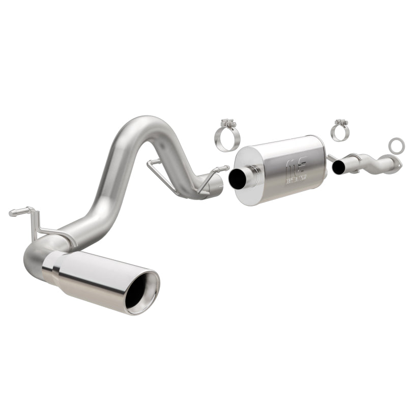 MagnaFlow Cat-Back 2016 Toyota Tacoma 3.5L V6 SS 3in Single Pass Side Exit Rear 4in Tip