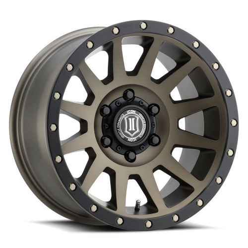ICON Compression 17x8.5 6x5.5 0mm Offset 4.75in BS 106.1mm Bore Bronze Wheel