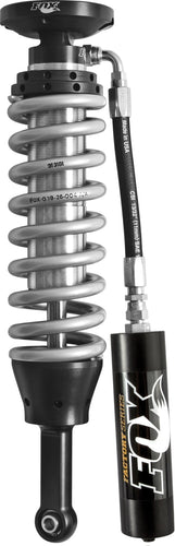 Fox 05+ Tacoma w/UCA 2.5 Factory Series 4.94in. Remote Res. Coilover Set / Mid-Travel - Black/Zinc