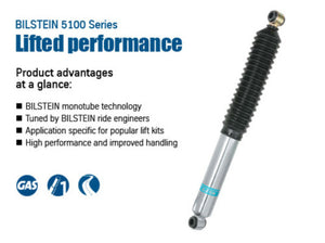 Bilstein 5160 Series 05-15 Toyota Tacoma Rear Left 46mm Monotube Shock Absorber