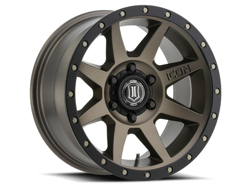 ICON Rebound 17x8.5 6x5.5 0mm Offset 4.75in BS 106.1mm Bore Bronze Wheel