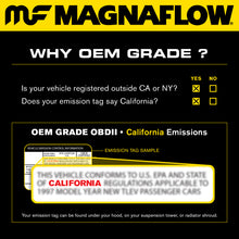 Load image into Gallery viewer, MagnaFlow Conv Univ 2.25in Inlet/Outlet Center/Center Round 9in Body L x 5.125in W x 13in Overall L