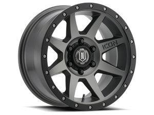 ICON Rebound 17x8.5 6x5.5 0mm Offset 4.75in BS 106.1mm Bore Titanium Wheel