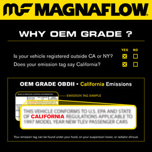 MagnaFlow Conv Univ 2.25in Inlet/Outlet Center/Center Round 9in Body L x 5.125in W x 13in Overall L