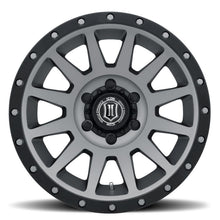 Load image into Gallery viewer, ICON Compression 17x8.5 6x5.5 0mm Offset 4.75in BS 106.1mm Bore Titanium Wheel