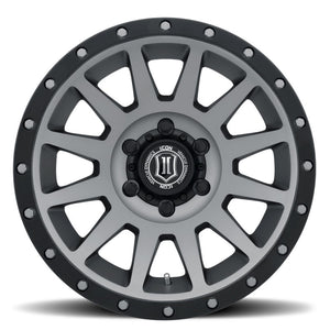 ICON Compression 17x8.5 6x5.5 0mm Offset 4.75in BS 106.1mm Bore Titanium Wheel