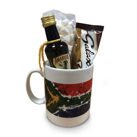 SA Flag Mug with hot choc mallows and Amarula