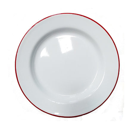 Enamel 24cm Dinner Plate White
