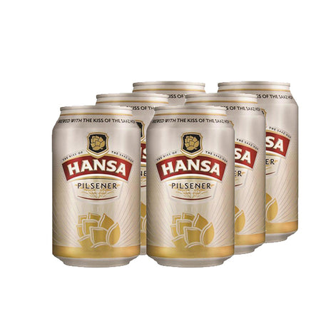 Hansa Pilsener 330ml Cans 6 Pack