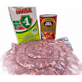 Boerewors, Iwisa, Tomato and Onion comboBoerewors, Iwisa, Tomato and Onion combo
