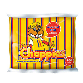Chappies Bubblegum Fruit Asssorted - pack of 100 (400g)