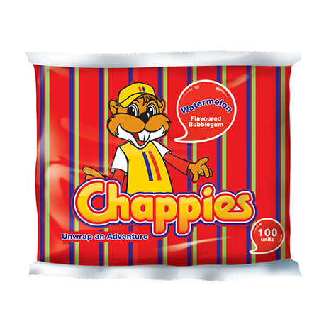 Chappies Bubblegum Watermelon - pack of 100 (400g)