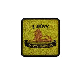 South African Lion Matches Retro Coaster