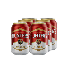 Hunters Gold Cider 330ml Cans 6 Pack