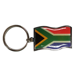 South African Flag Metal Keyring