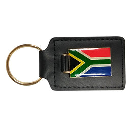 Leather South African Keyring