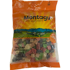 Montagu Wild Mixed Flavoured Fruit Cubes 250g