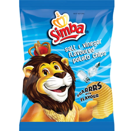 Simba Salt and Vinegar Chips 125g