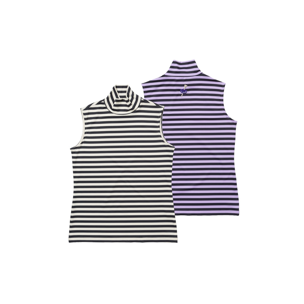 【80599】Border sleeveless pullover