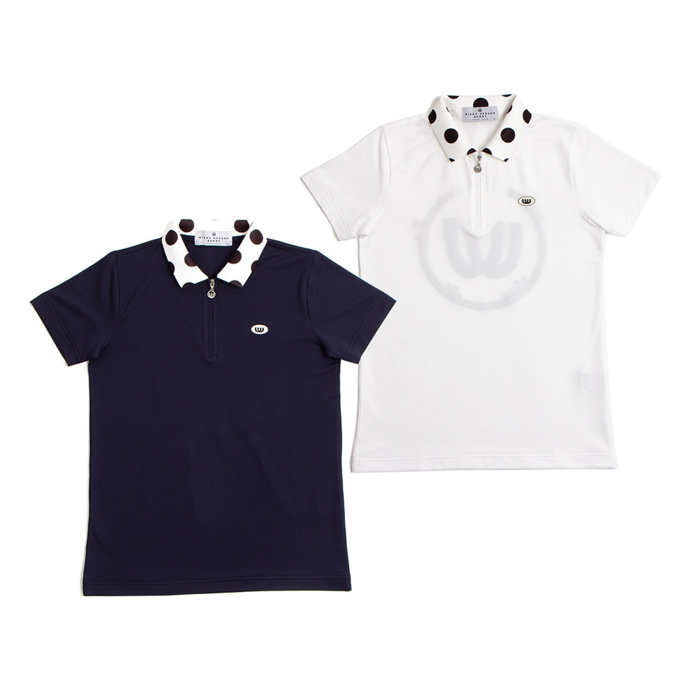 【19MSS-03】Dot collar polo shirt