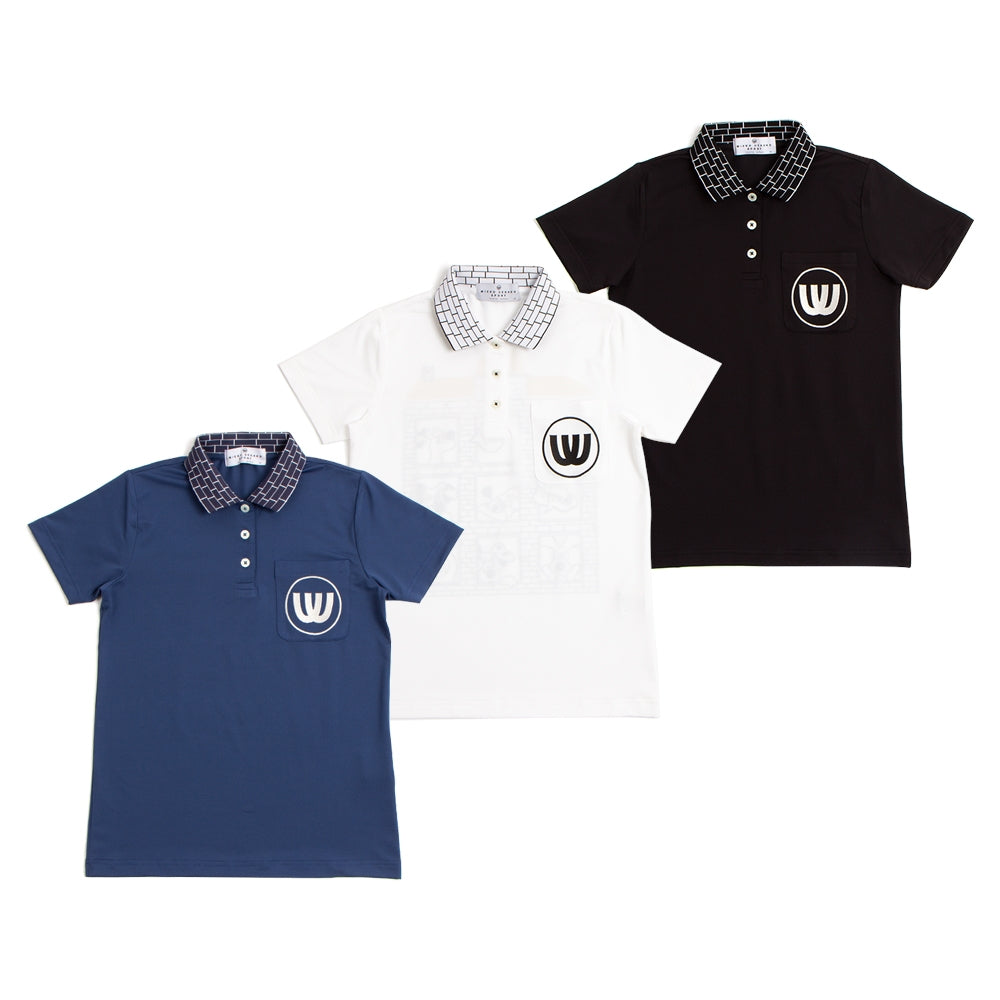 [19MSS-05] polo shirt of lattice collar (30% OFF)