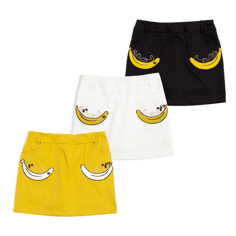 【19MSS-15】polyester Banana Skirt (30%OFF)