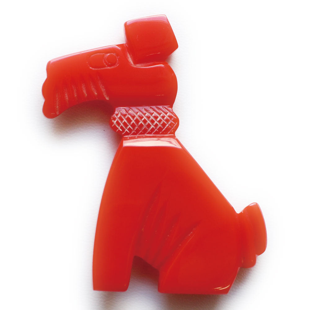 Red terrier brooch