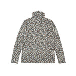 【80624】Leopard print long sleeve pullover